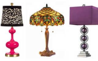 Разновидности и правила выбора настольных светильников для спальни
