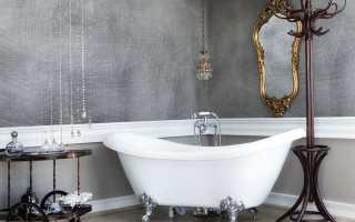 Как делается декоративная штукатурка в ванной комнате