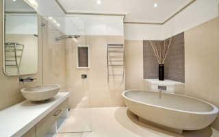 Навесные потолки в ванной – какие лучше выбрать