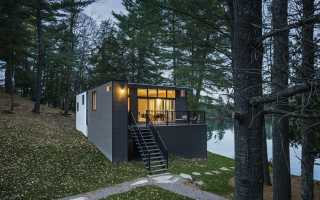 Загородный дом в лесу cross-laminated-timber: великолепная обитель тишины и комфорта на лоне канадской природы