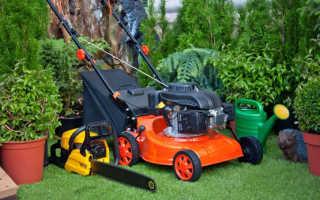 Перечень основных характеристик садовой техники