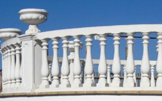 Балюстрады и балясины в фасадном декоре современного загородного дома