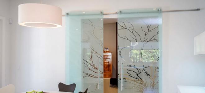 Выбираем стеклянные раздвижные двери