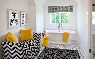 Черно-белая ванная комната – украшение любой квартиры: интерьер ванной комнаты черно-белый