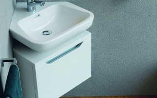 Угловая раковина с тумбой: сберегаем пространство в ванной комнате