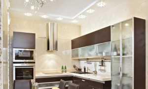 Светильники для натяжных потолков на кухне – как сделать?
