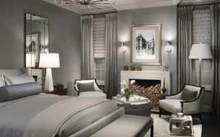 Интересные спальни в серых тонах, идеи и сочетания