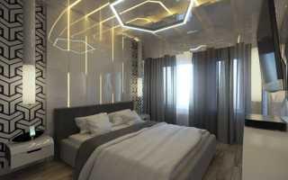 Полная функциональность дизайна спальни в стиле хайтек поражает