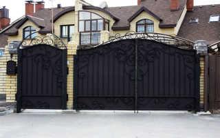Из чего можно сделать ворота для частного сектора?