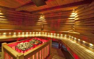 Выбор и устройство светильников для бани