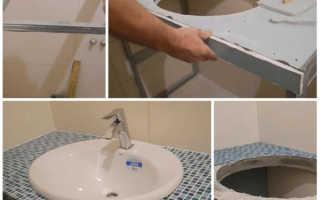 Столешница в ванную своими руками: установка столешницы своими руками