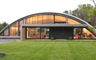 Дом-арка: креативный проект семейного жилья в современном стиле