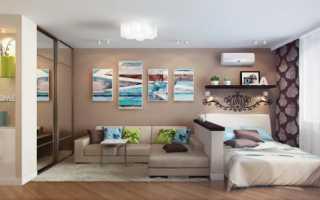 Идеи дизайна гостиной совмещенной со спальней, варианты зонирования