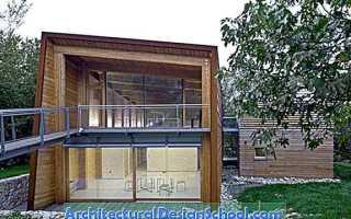 Комфортный эко-дом tvzeb в современном стиле от компании traverso vighy, виченца, италия