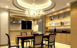 Какой лучше потолок сделать на кухне: виды конструкций