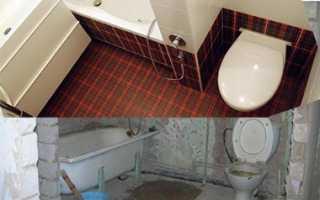 Ремонт санузла и ванной комнаты: перепланировка и объединение