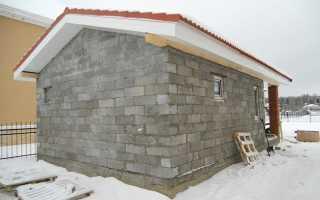 Баня из керамзитных блоков своими руками