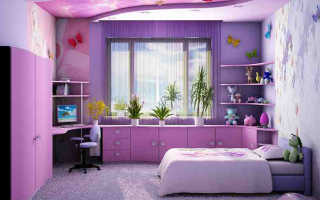 Как красиво оформить окно в детской комнате