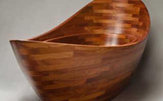 Деревянная ванна в интерьере: быть или не быть?