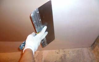 Как правильно шпаклевать потолок — профессиональные советы