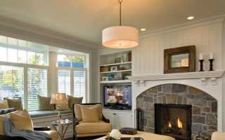 Как разместить камин, в дизайне гостиной совмещенной с кухней?