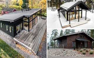 Деревянный загородный дом – единение с природой