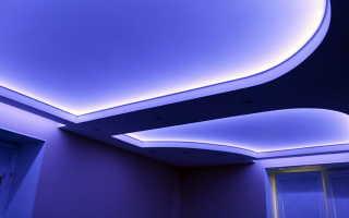 Как сделать подвесной потолок с подсветкой: рекомендации домашнему мастеру