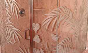 Стеклянные двери для ванной комнаты и туалета