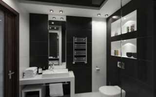 Особенности дизайна черно-белой ванной комнаты с учетом советов от специалистов