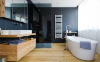 Деревянный пол в ванной – особенности и монтаж